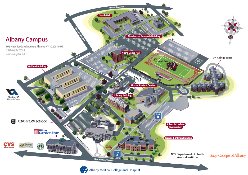Campus Map | Albany College of Pharmacy and Health Sciences