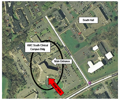 Albany Campus Health Center map