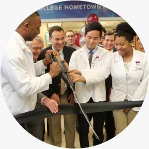 Students Cut Ribbon at Grand Opening of ACPHS' College Hometown Pharmacy