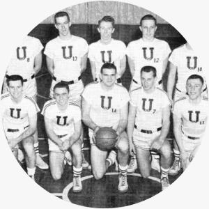 Photo of the 1955 ACP Men's Basketball Team