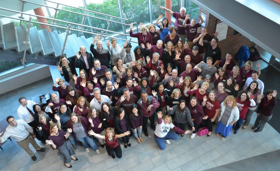 Faculty and staff on Maroon Monday