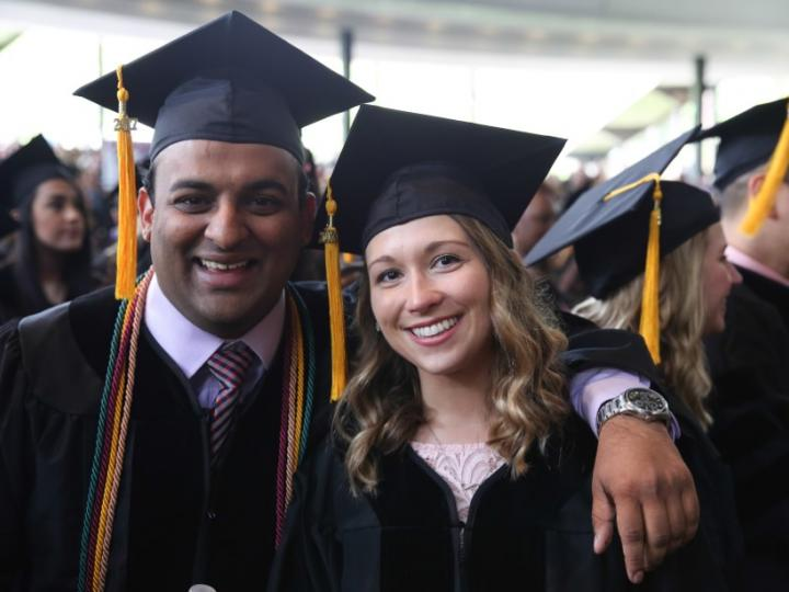 male & female grads